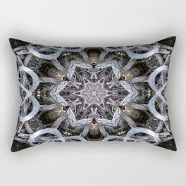 Dark natural mandala by twisted tree branches Rectangular Pillow