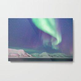 The Arctic Northern Lights Metal Print