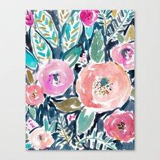 Gardens of Capitola Watercolor Floral Canvas Print