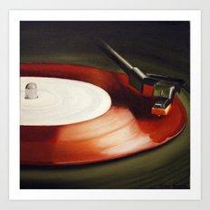 Red Record  Art Print