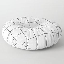 WINDOWPANE ((black on white)) Floor Pillow