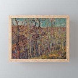 Canadian Landscape Oil Painting Franklin Carmichael Art Nouveau Post-Impressionism Silvery Tangle Framed Mini Art Print