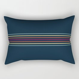 Thin Lines in Retro Color Rectangular Pillow