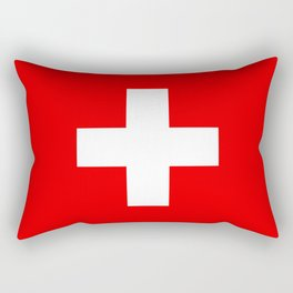 Flag of Switzerland - Authentic (High Quality Image) Rectangular Pillow