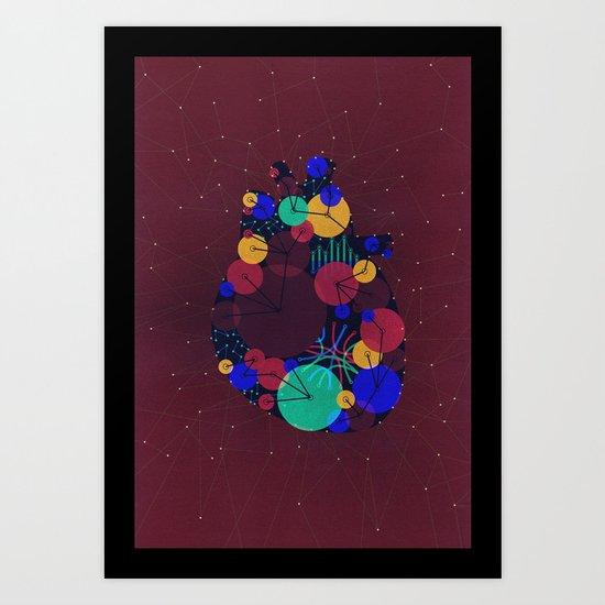 Data Heart Art Print