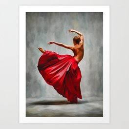 The ballerina - dancing art Art Print