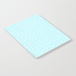 Baby Blue Paint Drops Notebook