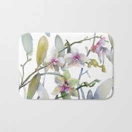 White and Pink Magnolias, Goldfish hiding, Surreal Bath Mat