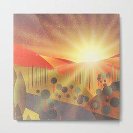 Soleil Levant Metal Print