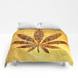 Vintage Cannabis Leaf Comforters