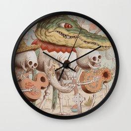 Mexican Skulls 2 Wall Clock