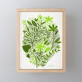 Garden – Lime Green Palette Framed Mini Art Print