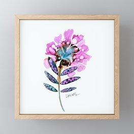 fleur du jour Framed Mini Art Print