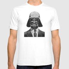 Darth Vader portrait White Mens Fitted Tee MEDIUM