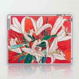 Blush Lily Bouquet on Orange Laptop & iPad Skin