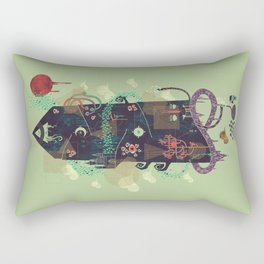 The Ominous and Ghastly Mont Noir Rectangular Pillow