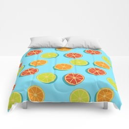 Summer insta fruits Comforters