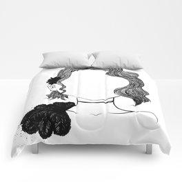 Vintage portrait Comforters