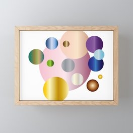 planetarium abstract geometrical design Framed Mini Art Print