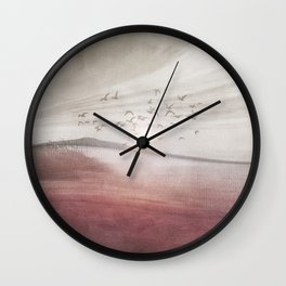 Positive sunset II Wall Clock