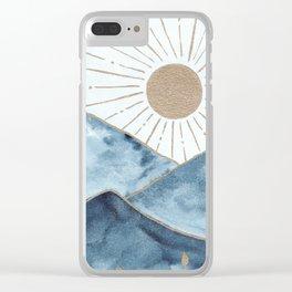 Indigo & gold landscape 1 Clear iPhone Case