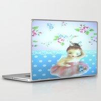 ballerina Laptop & iPad Skins featuring Ballerina by Vintage  Cuteness