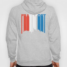 Red White And Blue Frankfort Kentucky Skyline Hoody