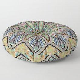 Stained Glass Window - Mandala Art Floor Pillow