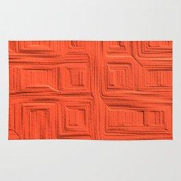Richest Deep Orange Sunset Warm Vintage Texture Rug