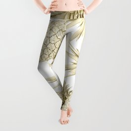 Gold Pineapple Bling Leggings