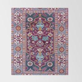 Romanian  Antique  Double Niche Carpet Throw Blanket