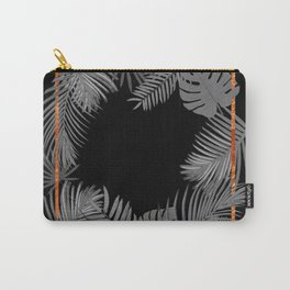 TROPICAL SQUARE COPPER BLACK AND GRAY Carry-All Pouch