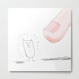 finger Metal Print