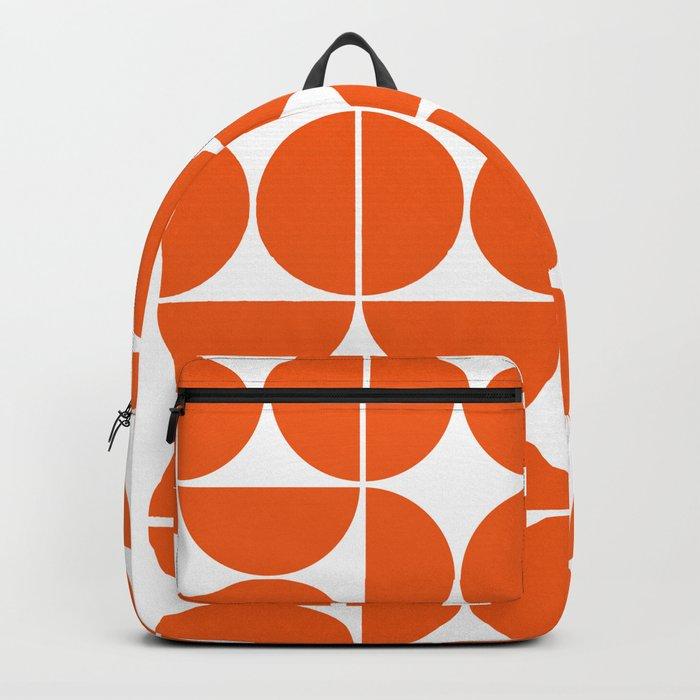 Mid Century Modern Geometric 04 Orange Rucksack