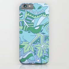 Abstract Animals - Blue and Green  Slim Case iPhone 6s