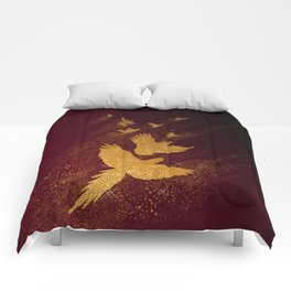 Parrot golden milky way Comforters