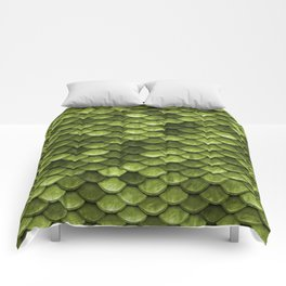 Mermaid Scales | Green with Envy Comforters