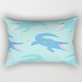 Nile Crocodile Rock Rectangular Pillow