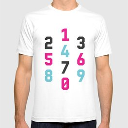 Typography Numbers #1 T-shirt