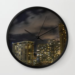City View From a Hotel Room Wall Clock