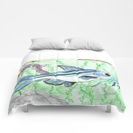 Mexican Blue Catfish Comforters