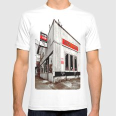 Tacoma V-Twin MEDIUM White Mens Fitted Tee