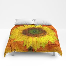 Sunflower Leaf Impression Comforters