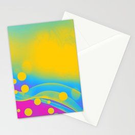 Pansexual Pride Simple Abstract Falling Radiance Stationery Cards