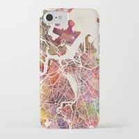 boston iPhone & iPod Cases featuring Boston by MapMapMaps.Watercolors