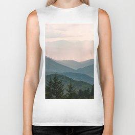 Smoky Mountain Pastel Sunset Biker Tank