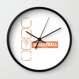 Eat Sleep Basketball Repeat Basket Ball Ring Rebound Team Action Sports Game Gift Wall Clock