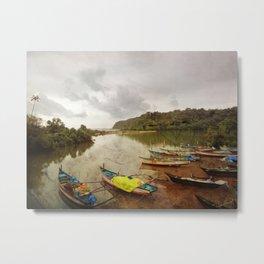 Fishing port in Goa, India Metal Print