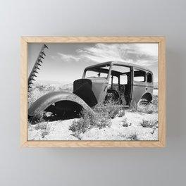 Antique car in Nevada Framed Mini Art Print