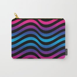 Wiggly Vibrant Multicolour Lines Carry-All Pouch